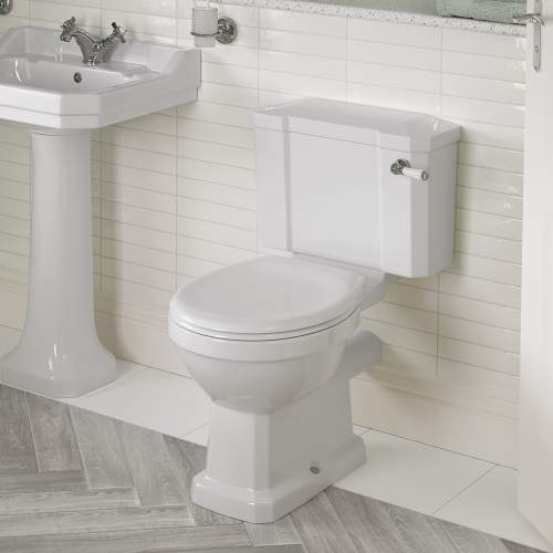 Bluci Sherbourne Open Back Close Coupled WC with Soft Close Seat