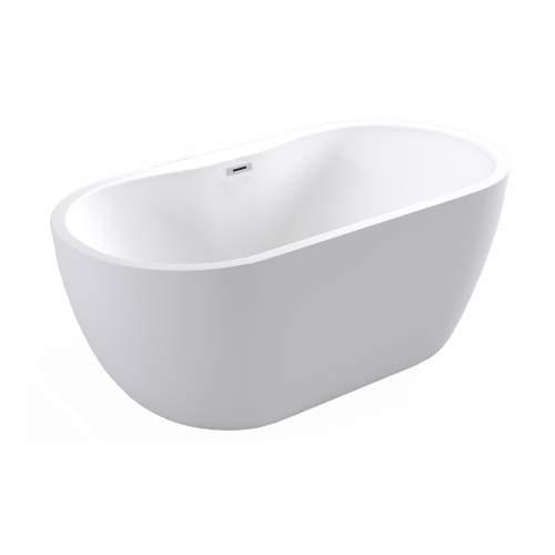 Bluci Harlesden Freestanding Double Ended White Bath