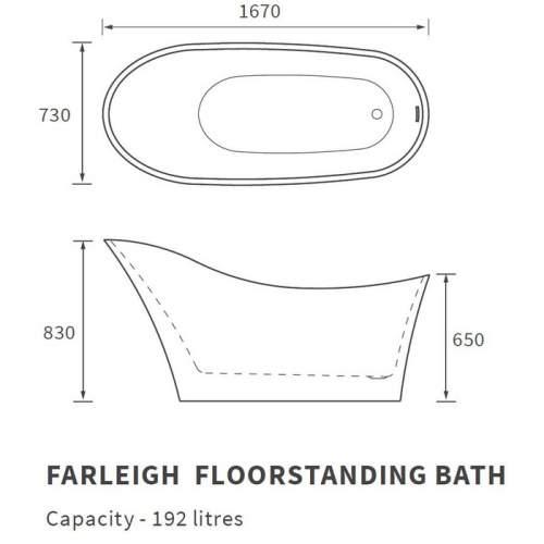 Bluci Farleigh Freestanding Single Ended Bath