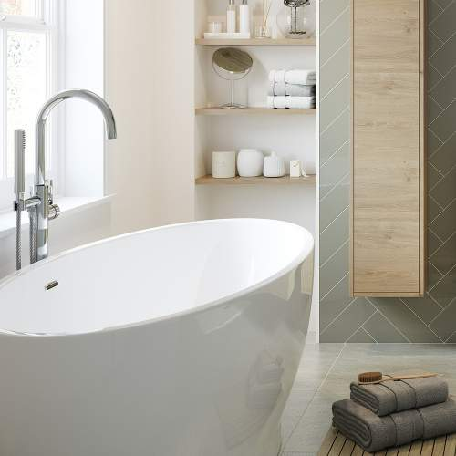 Bluci Edmonton Freestanding Double Ended Bath
