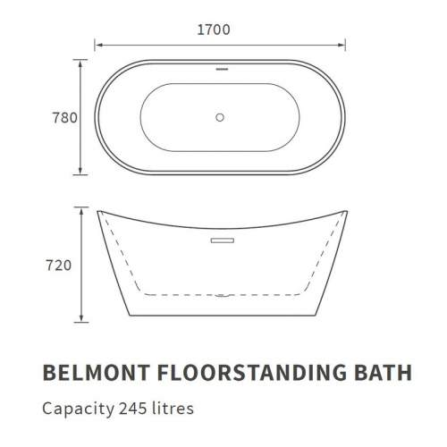 Bluci Belmont Freestanding Double Ended Bath