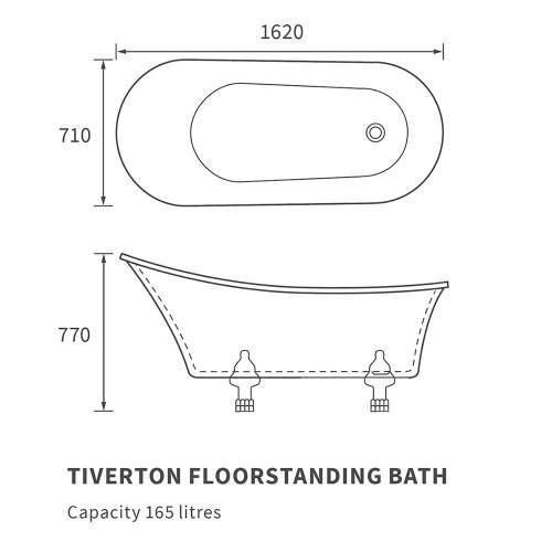 Bluci Tiverton Freestanding Single Ended Bath