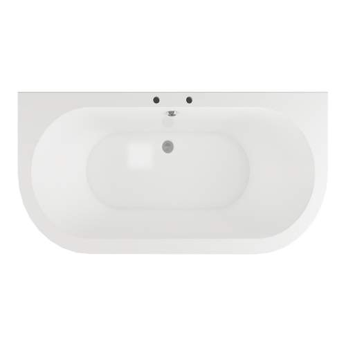 Bluci Finchley Freestanding Double Ended Back to Wall Bath
