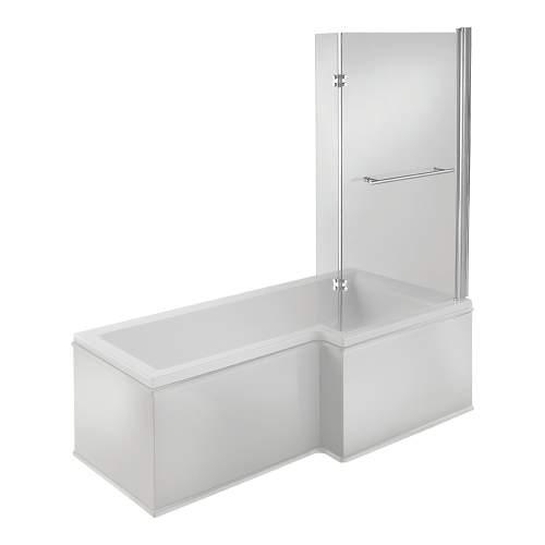 Bluci Solarna L Shape 1700mm Single Ended Shower Bath