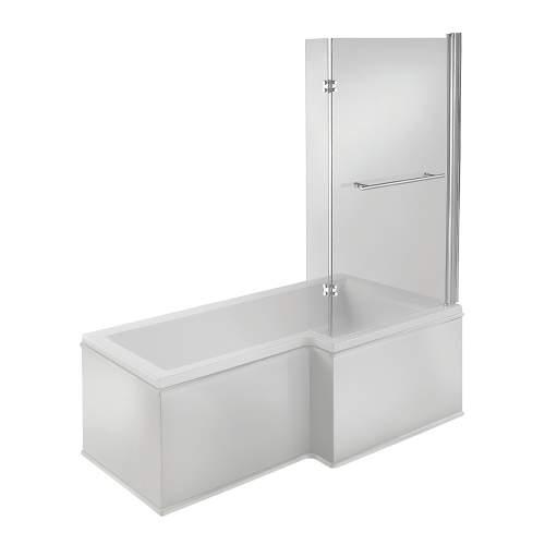 Bluci Solarna L Shape 1500mm Single Ended Shower Bath