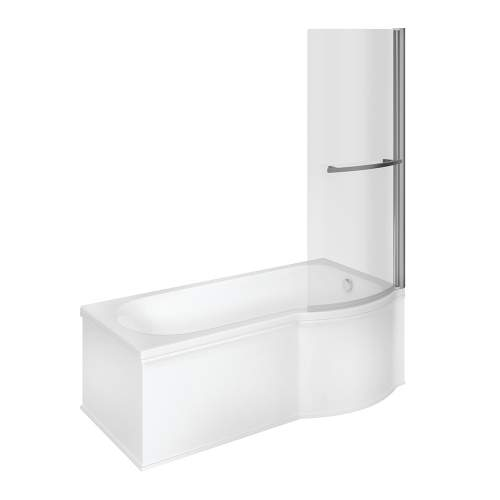 Bluci P Shape Single Ended Shower Bath Pack
