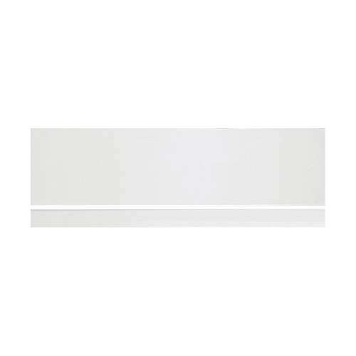 Bluci White Plain Bath Front Panel