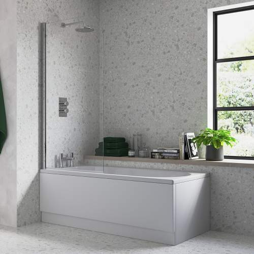 Bluci Single Curved Edge Bath Screen