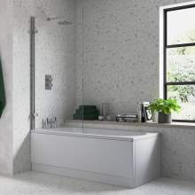 Bluci Hinged Straight Edge Bath Screen