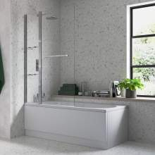 Bluci Two Panel Folding Bath Screen