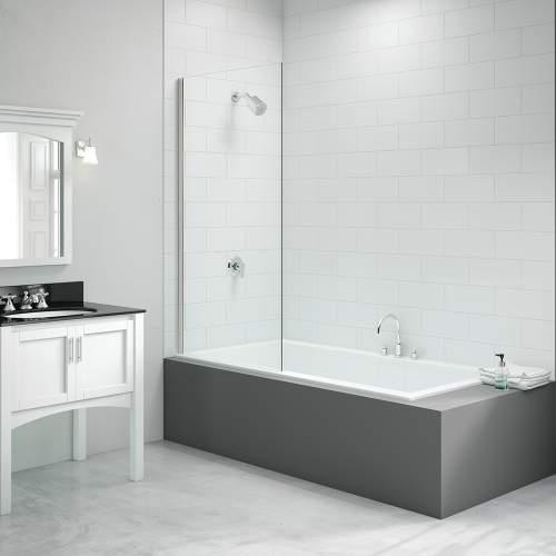 Bluci Single Fixed Square Bath Screen