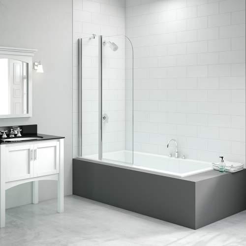 Bluci 2 Panel Curved Folding Bath Screen