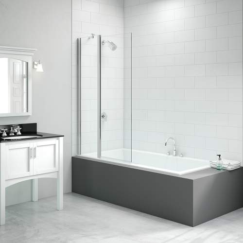 Bluci 2 Panel Square Folding Bath Screen