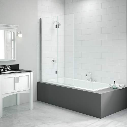 Bluci 2 Panel Hinged Bath Screen