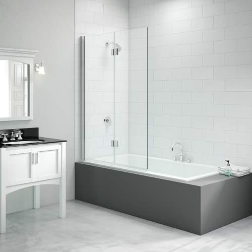 Bluci Two Panel Folding Hinged Bath Screen