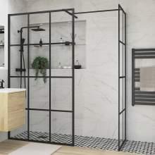 Bluci Black Framed Wetroom Side Panel