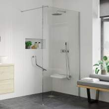 Bluci 8mm Wetroom Panel and Support Bar