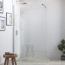 Bluci 6mm Wetroom Panel and Support Bar
