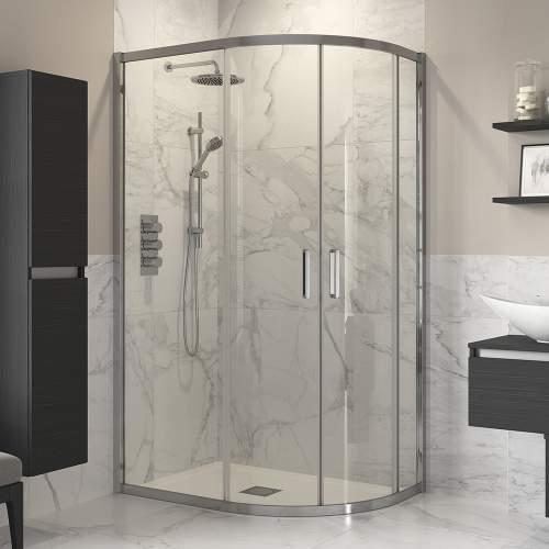 Bluci 2000mm High Door Offset Quadrant Shower Enclosure