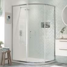 Bluci Flex Framed 1 Door Offset Quadrant Shower Enclosure