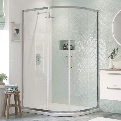 Bluci Flex Framed 2 Door Offset Quadrant Shower Enclosure
