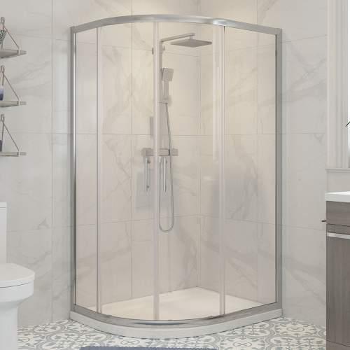 Bluci Classic Framed 2 Door Offest Quadrant Shower Enclosure