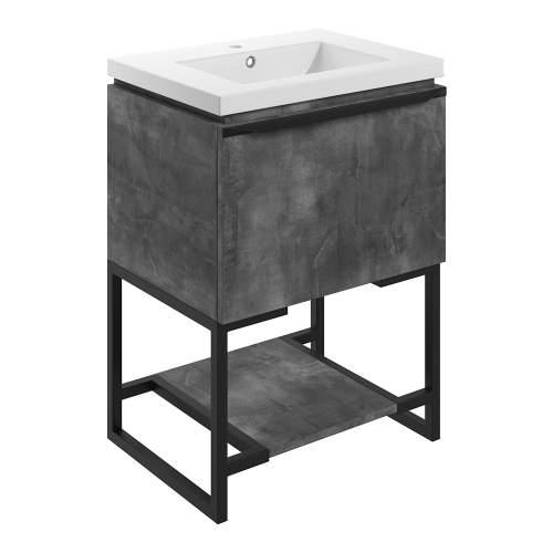 Bluci Framework 615mm 1 Drawer Bathroom Unit with Basin