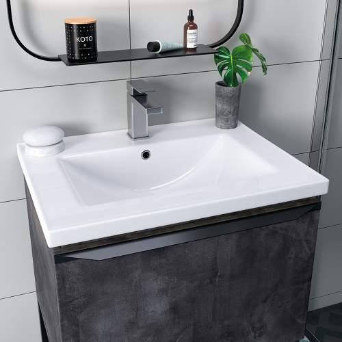 Bluci Framework 615mm Wide 1 Drawer Bathroom Unit with Basin
