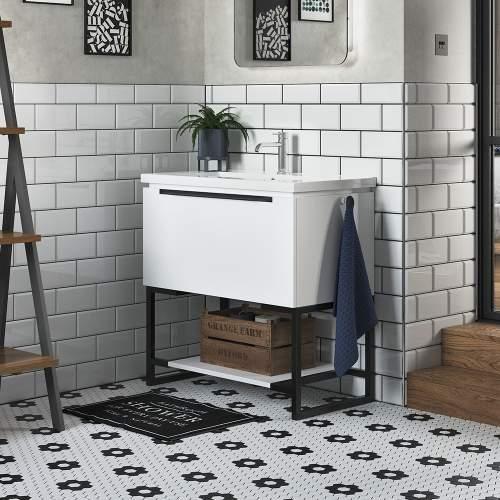 Bluci Framework 815mm 1 Drawer Bathroom Unit with Basin