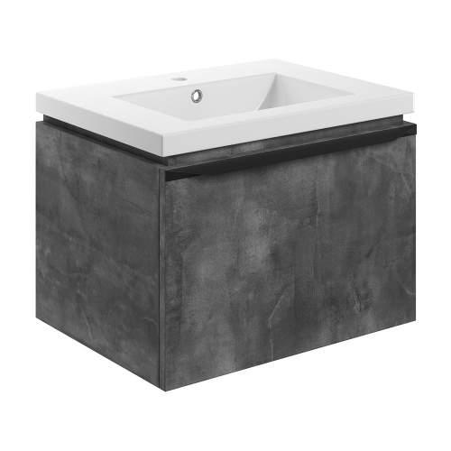 Bluci Framework 615mm Wall Hung 1 Drawer Bathroom Unit with Basin