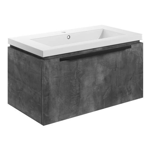 Bluci Framework 815mm Wall Hung Single Drawer Bathroom Unit with Basin