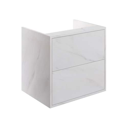 Bluci Perla Two Drawer 600mm Wall Hung Bathroom Basin Unit with No Top