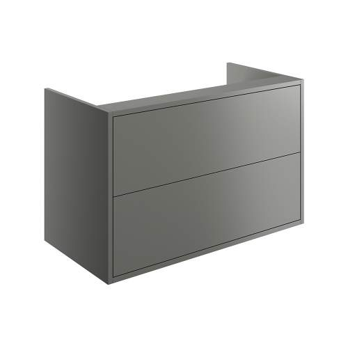 Bluci Perla Two Drawer 900mm Wall Hung Bathroom Basin Unit with No Top