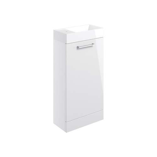 Bluci Volta 410mm Floor Standing 1 Door Bathroom Basin Unit