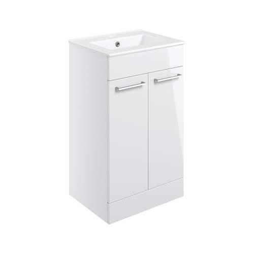 Bluci Volta 510mm Floor Standing 2 Door Bathroom Basin Unit