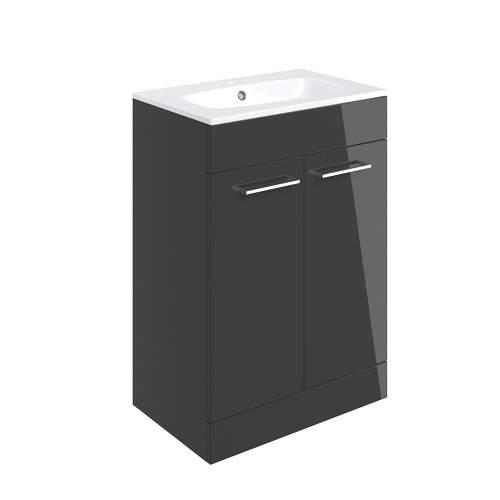 Bluci Volta 610mm Floor Standing 2 Door Bathroom Basin Unit