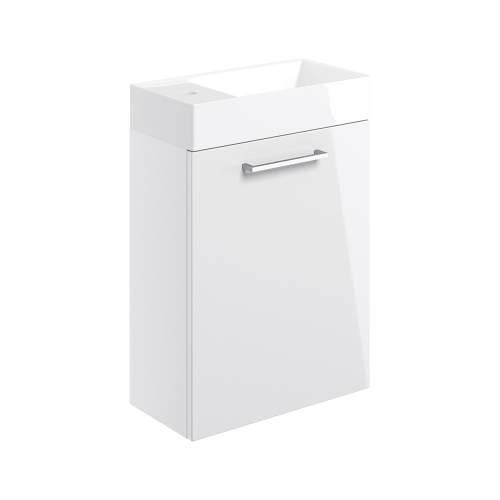 Bluci Volta 410mm Wall Hung 1 Door Bathroom Basin Unit