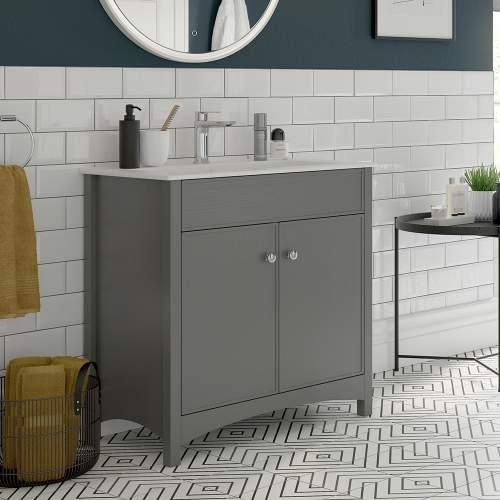 Bluci Lucia 810mm 2 Door Bathroom Basin Unit