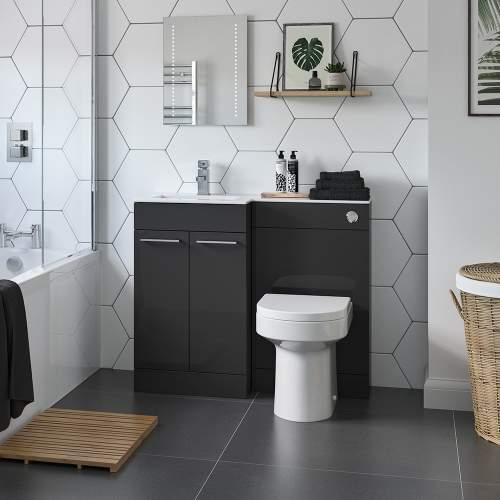 Bluci Venosa L-Shape Bathroom Combination Unit