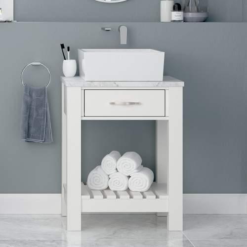 Bluci Manhattan Bellato Marble Laminate Bathroom Worktop