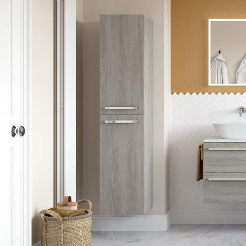 Bluci Morina 2 Door Wall Hung Tall Bathroom Unit
