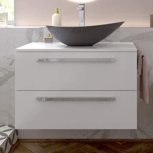 Bluci Morina 615mm Wall Hung Bathroom Basin Unit with No Top