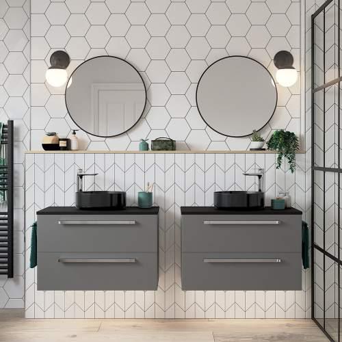 Bluci Morina 800mm Wall Hung Bathroom Basin Unit with No Top