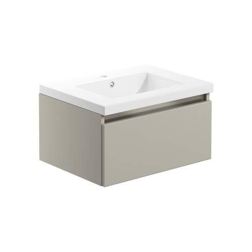 Bluci Carino 615mm 1 Drawer Wall Hung Bathroom Basin Unit