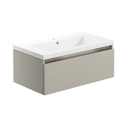 Bluci Carino 815mm 1 Drawer Wall Hung Bathroom Basin Unit