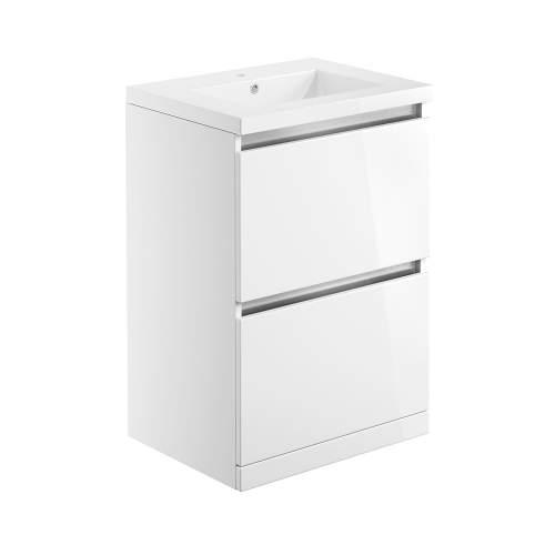 Bluci Carino 615mm 2 Drawer Floor Standing Bathroom Basin Unit