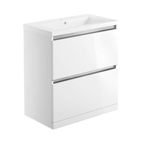 Bluci Carino 815mm 2 Drawer Floor Standing Bathroom Basin Unit