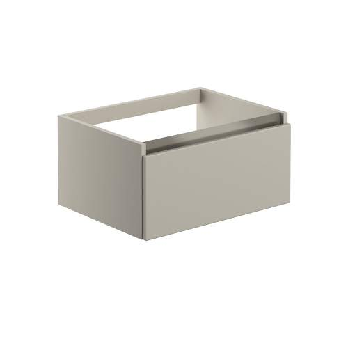 Bluci Carino 600mm 1 Drawer Wall Hung Bathroom Basin Unit with No Top