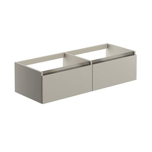 Bluci Carino 1200mm 1 Drawer Wall Hung Bathroom Basin Unit with No Top