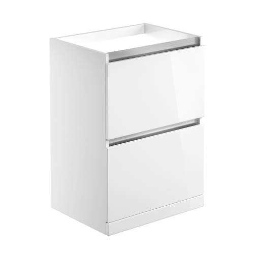 Bluci Carino 600mm 2 Drawer Floor Standing Bathroom Basin Unit with No Top